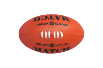 Sports Works Genuine Australian Rules Football Size 5 Training AFL Game Ball Red