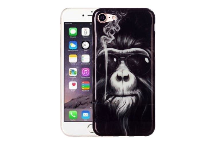 For iPhone 8 7 Case Elegant Sunnies Monkey Grippy Durable Protective Cover