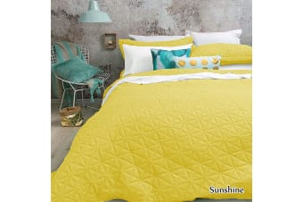 Regent Embossed Coverlet Set QUEEN/KING Sunshine by Bambury