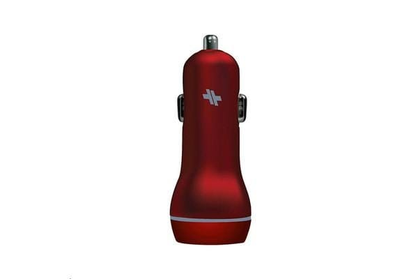 Swiss Dual Port 3.4A Car Charger - Red
