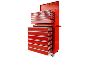 BULLET 15 Drawer Tool Box Storage Cabinet Chest Garage Trolley Toolbox Mechanic
