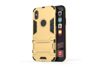 Full-Armoured Protective Case Of Steelman Stealth Bracket Phone Case For Iphone Gold Iphone Xs Max