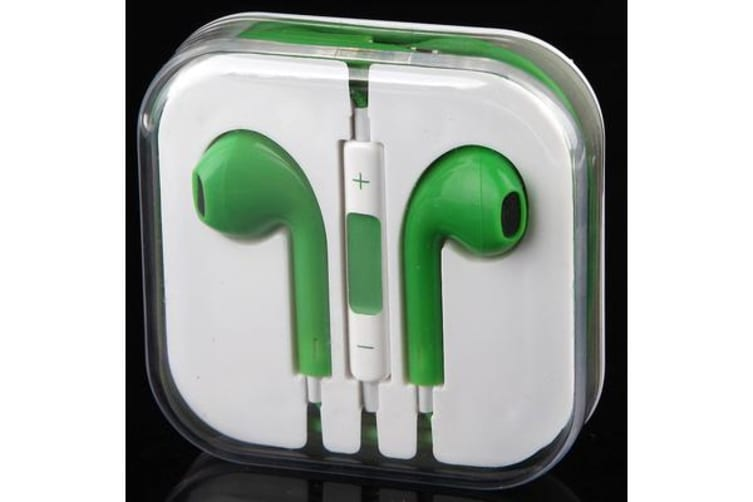Handsfree Headphone Earphone W/ Mic For Apple Iphone 5 4 4S 3Gs Ipad Ipod Green