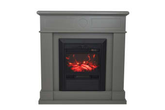 Luxo Nuraya 2000W Electric Fireplace Mantel & Heater - Grey