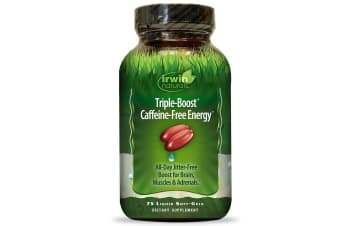 Irwin Naturals Triple-Boost Caffeine-Free Energy - 75 Liquid Soft-Gels