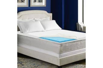 Giselle Bedding 8CM Dual Layer Cool Gel Memory Foam Mattress Topper Cover King