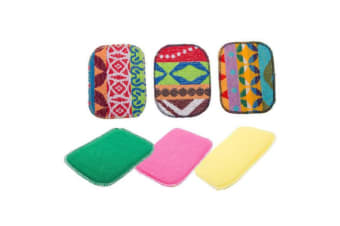 8pc Euro Scrubby & Sponge Asstd Design Multi-Purpose Scrubbing Kitchen Bathroom