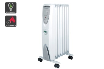 Dimplex 1500W Eco 7 Fin Column Heater w/Timer- Arctic White (OFRC15TIW)