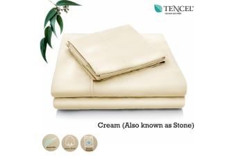 Tencel Cotton Blend Sheet Set Cream (Also Known as Stone) Single by Accessorize