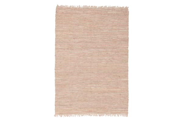 Bondi Leather and Jute Rug Nude Pink 270x180cm