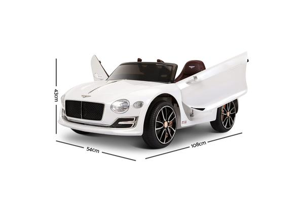 Bentley Style XP12 Electric Toy Car (White)