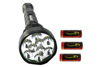 Raylight Flashlight 9 LED CREE XM-L T6 Torch Lamp Light 26650 Batteries Elinz