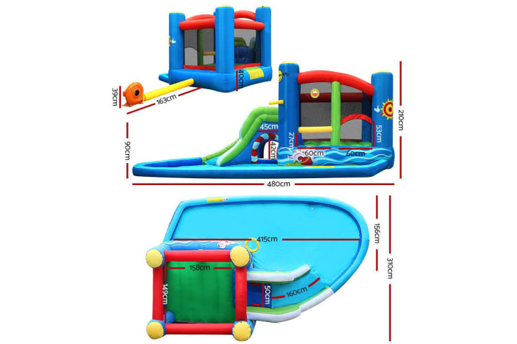 Dick smith happy hop inflatable water jumping castle for Happy hop inflatable water slide