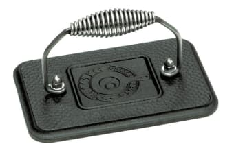 Lodge Rectangular Cast Iron Grill Press 17x11x9cm