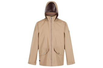 Regatta Mens Hartigan Waterproof Hooded Jacket (Dark Camel) (XL)