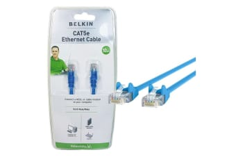 Belkin 10M CAT5e Blue RJ45 Ethernet Patch Cable Cord Network LAN Connector PC