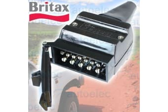 12 PIN BRITAX FLAT MALE PLUG CONNECTOR CAR CARAVAN CAMPER TRAILER NEW 7 B47