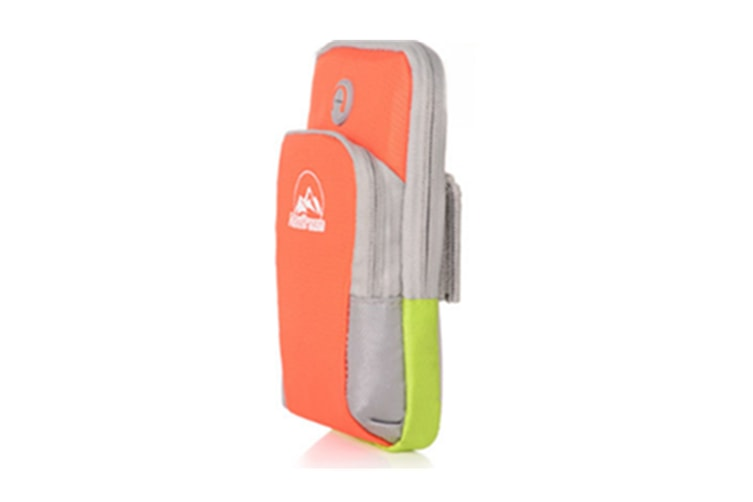 Armband Workout Walking Running Wearing Pouch Case Holder With Earphone Hole Design For Mobile Phone Orange