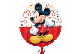 Disney Anagram 18 Inch Circle Mickey Mouse Foil Balloon (Multicoloured) (18in)