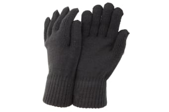 CLEARANCE - Mens Thermal Knitted Winter Gloves (Charcoal) (One Size)