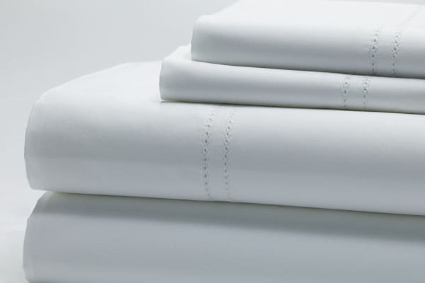 Style & Co 1000TC 100% Egyptian Cotton Essex Bed Sheet Set (Queen, White)