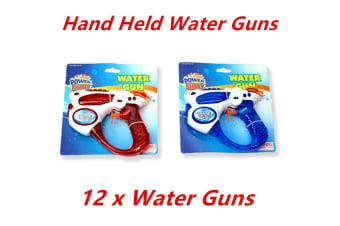 12 x Hand Held Water Gun Pistol Blaster Cannon Easy Refill Summer Party Event Family