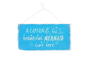 Something Different Captain And Mermaid Metal Wall Sign (Multicolour)