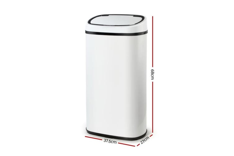 Devanti 58L Motion Sensor Bin Rubbish Waste Automatic Trash Kitchen Office White