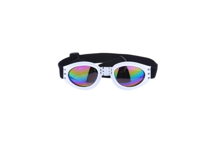 Pets Goggles Waterproof Windproof Uv Dogs Goggles White