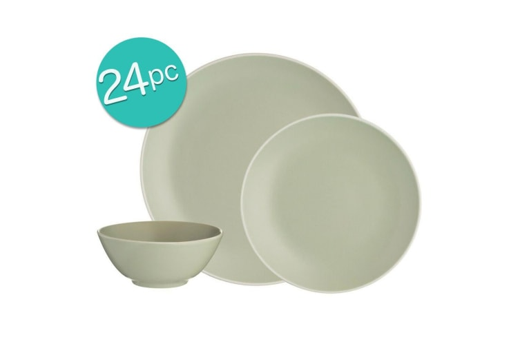 24pc Mason Cash Dinner Set Plates Bowls Side Dish Dining Home Kitchen Table GRN