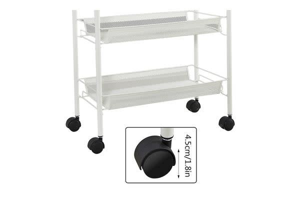 3 Tier Wire Mesh Rolling Cart for Serving Utility Organization
