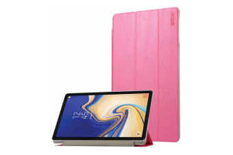 For Samsung Galaxy Tab S4 10.5i Case Rose Red Silk Texture PU Leather Folio Case