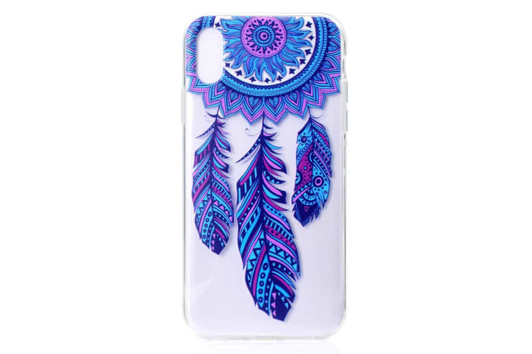 For iPhone XR Case Colorful Dreamcatcher Pattern Grippy TPU Back Shell Cover