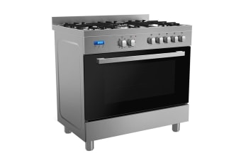 Residentia 90cm Freestanding Dual Fuel Fan Forced Oven - Stainless Steel (RU9EGB)