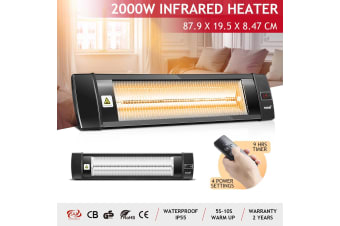 Maxkon 2000W Infrared Radiant Heater Electric Outdoor Patio Strip Heater Wall Ceiling