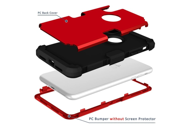 For iPhone XS Max Case Red Drop-proof Silicone Phone Cover