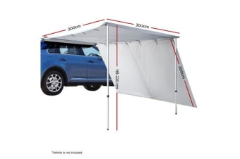 3M X 3M Car Side Awning Extension Roof Rack Cover Tents Shades Camping 4X4
