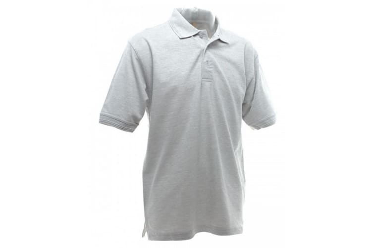 UCC 50/50 Mens Heavyweight Plain Pique Short Sleeve Polo Shirt (Heather Grey) (XL)