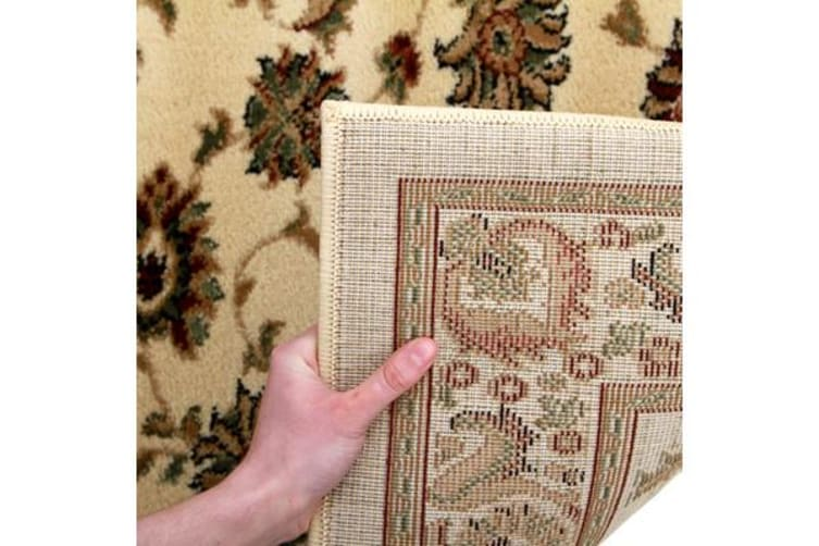 Traditional Floral Pattern Runner Ivory 300x80cm