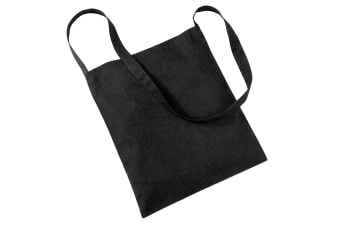 Westford Mill Sling Tote Bag - 8 Litres (Pack of 2) (Black) (One Size)