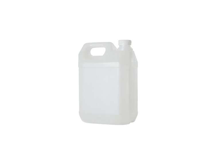 5L HDPE Clear Jerrycan Bottle Plastic Empty 38mm Wadded Tamper Evident Cap