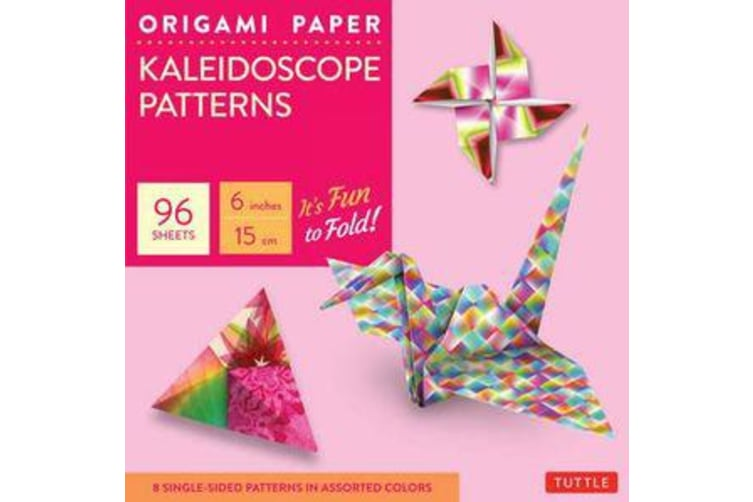 """Origami Paper - Kaleidoscope Patterns - 6"""" - 96 Sheets - Tuttle Origami Paper: High-Quality Origami Sheets Printed with 8 Different Patterns: Instructions for 7 Projects Included"""