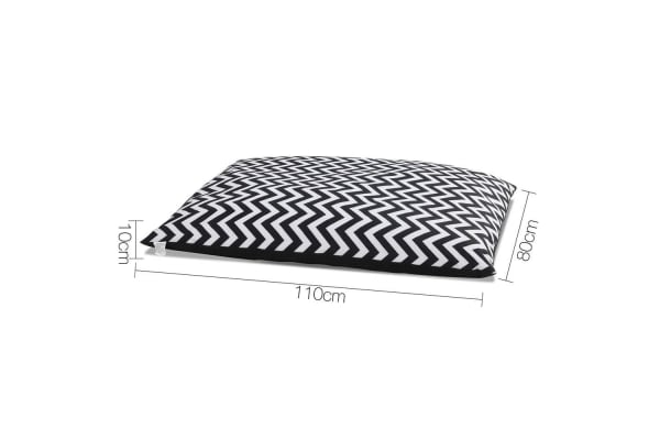 Washable Wavy Stripe Heavy Duty Pet Bed XXLarge