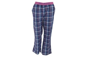 Forever Dreaming Womens/Ladies Checked Pyjama Bottoms (Blue Check)
