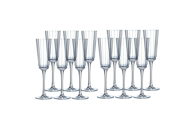 12PK Cristal D'Arques Macassar 170ml Champagne Sparkling Wine Drink Glasses