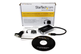 StarTech.com USB 3.0 to HDMI Adapter with 1-Port USB Hub – 1920x1200