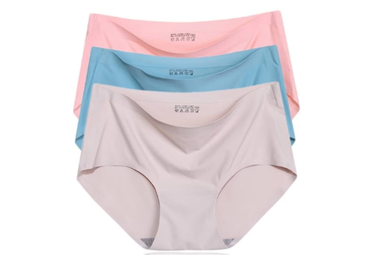 3Pack Of Invisible Women Low Waist Seamless Panties Underwear Briefs L