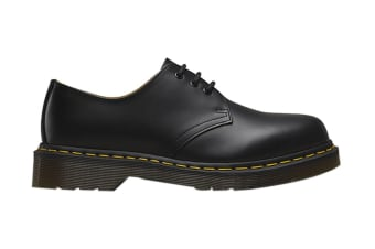 Dr. Martens 1461 Smooth Leather Low Top Shoe (Black, Size UK 9)