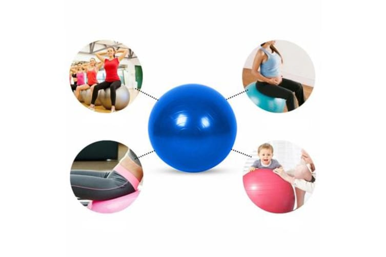 Yoga Ball Gym Exercise Fitness 55cm Blue