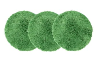 Pack of 3 Freckles Round Shag Rugs Lime